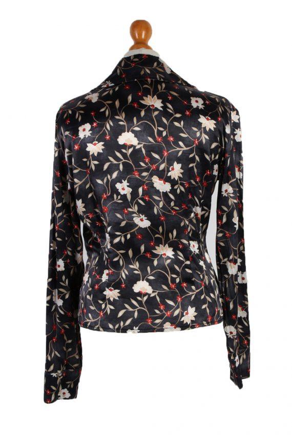 Vintage Fatto De Me Long Sleeve Flower Shirt M Multi LB097-82558