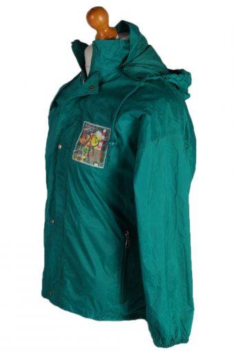 Vintage Jeantex Streetball Sports Raincoat Green RC312-81681