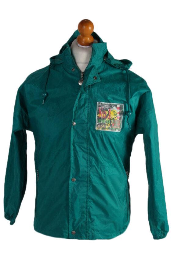 Vintage Jeantex Streetball Sports Raincoat Green RC312-0