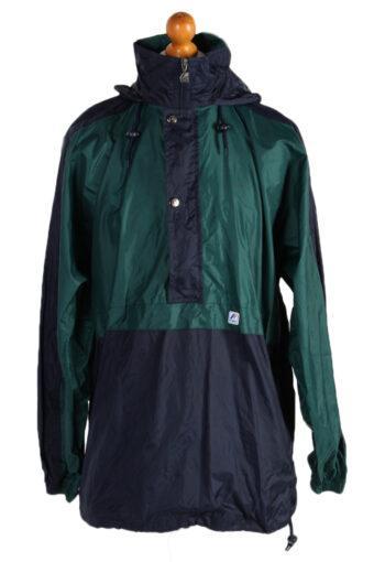 K Way Raincoat Waterproof Outdoor Jacket Windbreaker XL