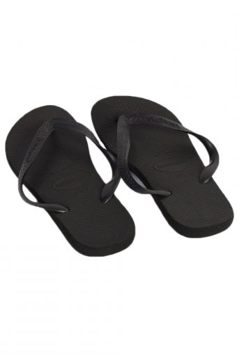 Vintage Havaianas Flip Flop E43/44 USA9 Black S318-83632