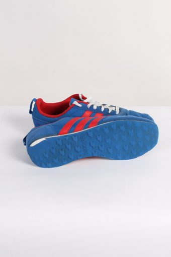 Vintage Adidas NEO Three Stripes Shoes UK 7.5 Blue S365-84043