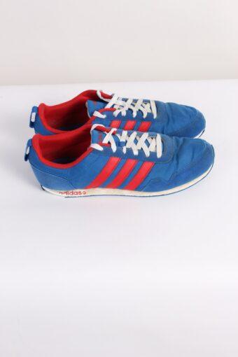 Vintage Adidas NEO Three Stripes Shoes UK 7.5 Blue