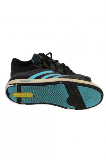 Vintage Adidas Vibetu Three Stripes Shoes UK 5 Black S380-84099