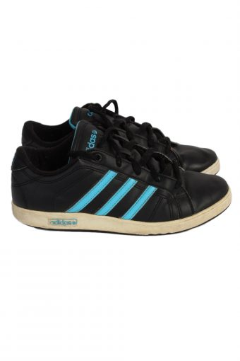 Vintage Adidas Vibetu Three Stripes Shoes UK 5 Black