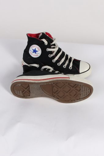 Vintage Converse All Star High Tops UK M/5 F/7 Black S402-84187