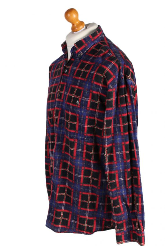 Vintage Check Mark Check Print Shirt M Multi SH3292-82260