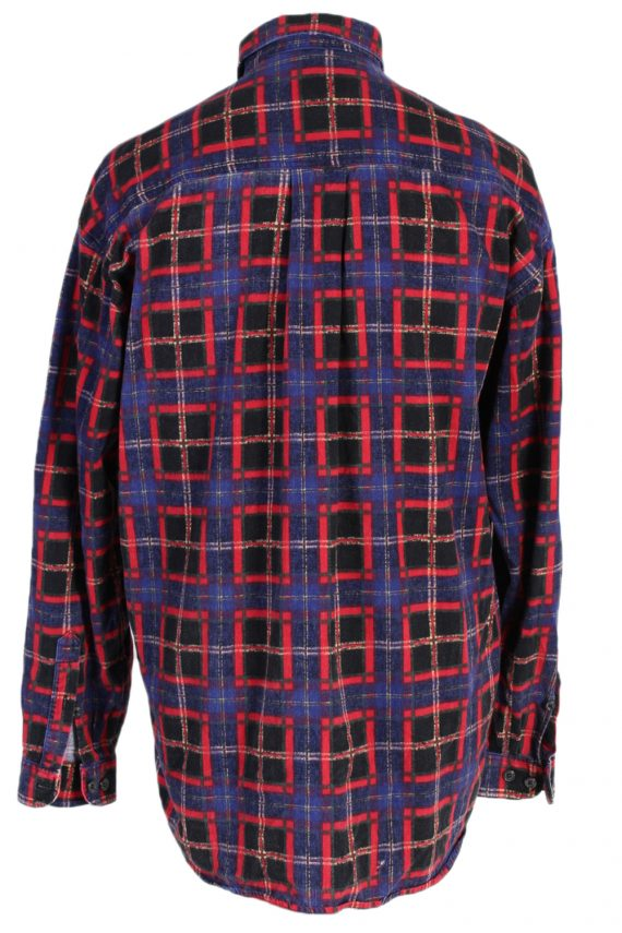 Vintage Check Mark Check Print Shirt M Multi SH3292-82261