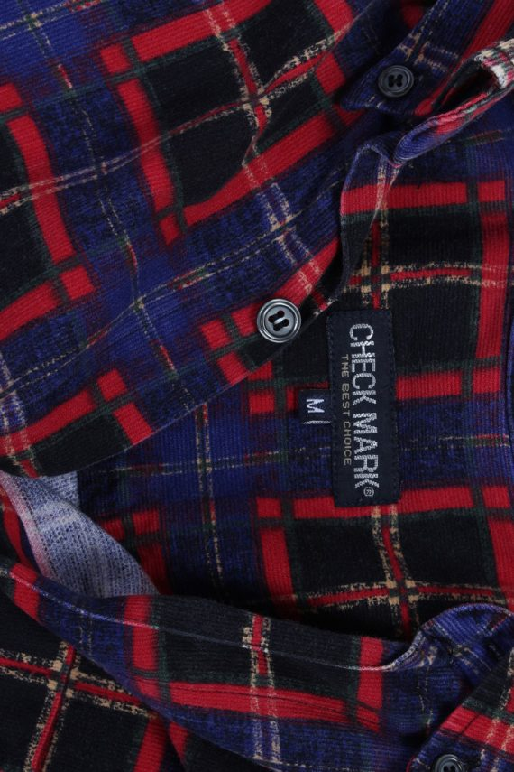 Vintage Check Mark Check Print Shirt M Multi SH3292-82262