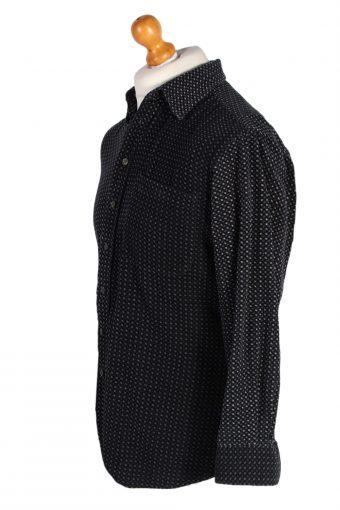 Vintage Canda Fashion Pattern Design Shirt M Navy SH3303-82304