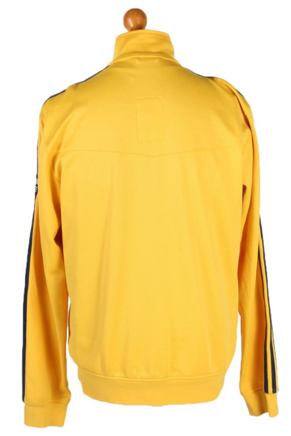 Vintage Adidas 3 Stripe Shell Tracksuits Top L Yellow -SW1892-83884