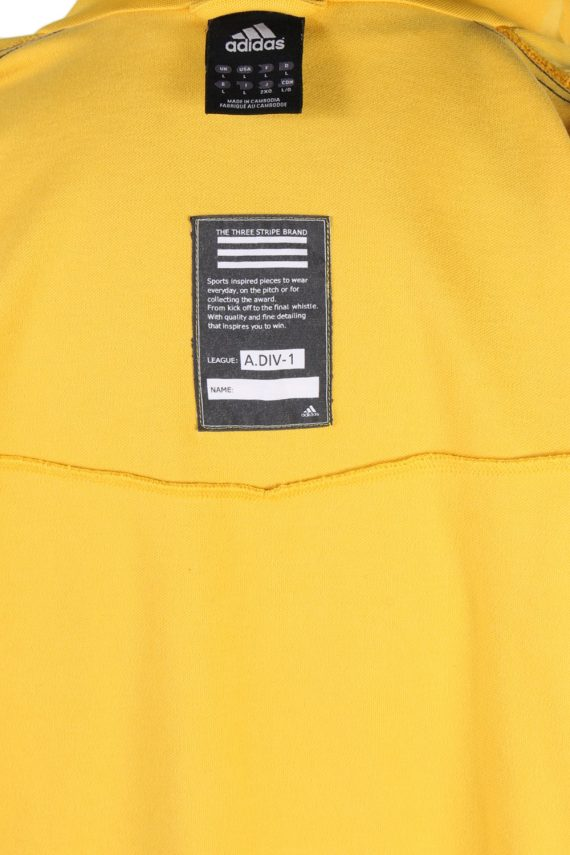 Vintage Adidas 3 Stripe Shell Tracksuits Top L Yellow -SW1892-83885
