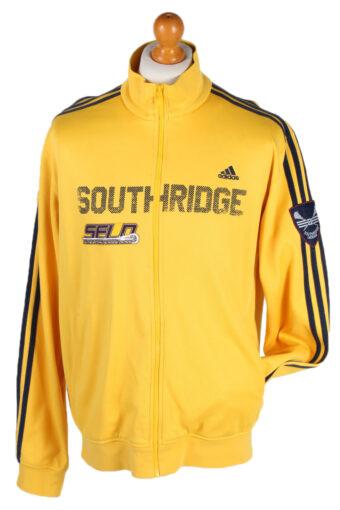 Adidas Stripe Shell Track Top Yellow L