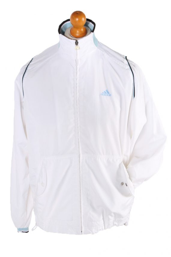Vintage Adidas Long Sleeve Tracksuit Top L White -SW1931-0