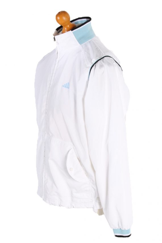 Vintage Adidas Long Sleeve Tracksuit Top L White -SW1931-83512