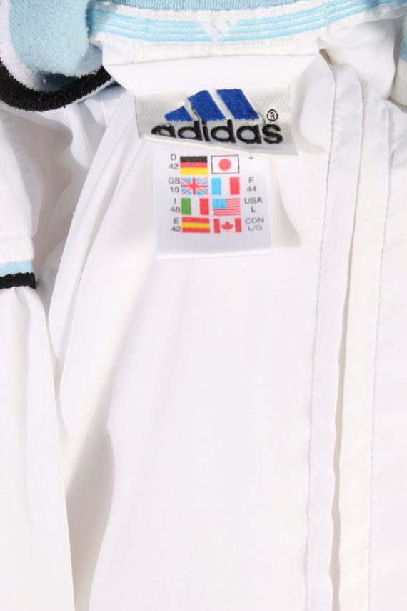 Vintage Adidas Long Sleeve Tracksuit Top L White -SW1931-83514