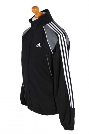 Vintage Adidas Long Sleeve Tracksuit Top S Black -SW1936-83424