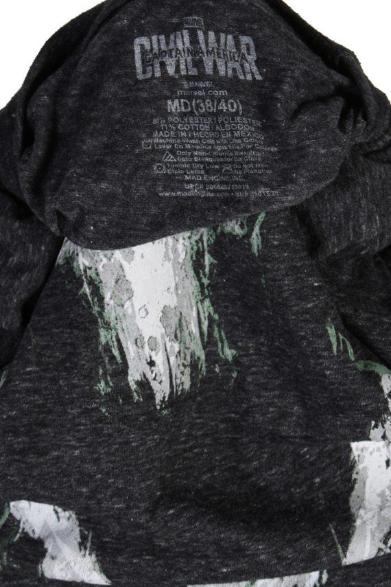 Vintage Captan America T-Shirt M Dark Grey TS077-81799