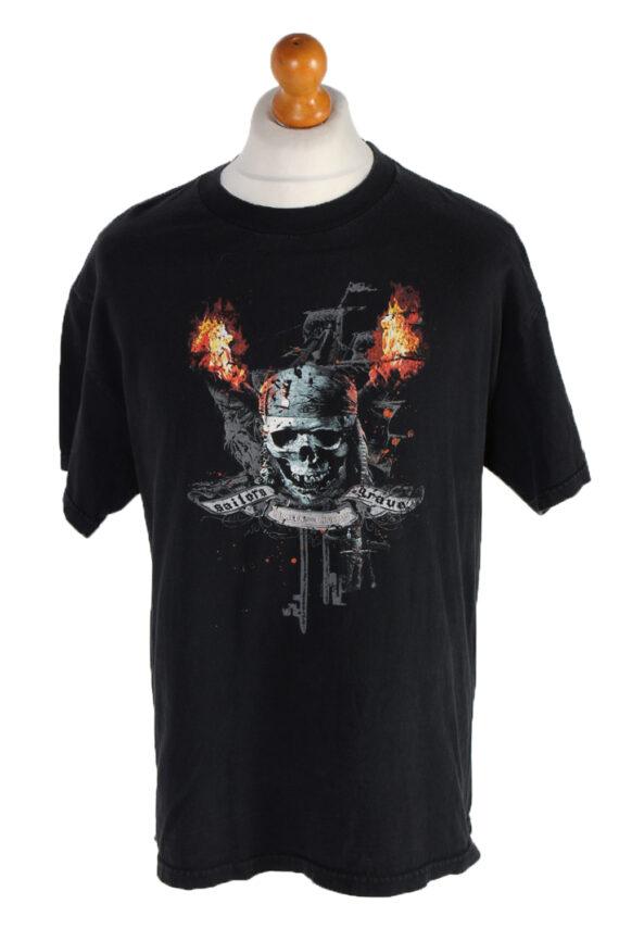 Vintage Tenessee River T-Shirt L Black TS094-0