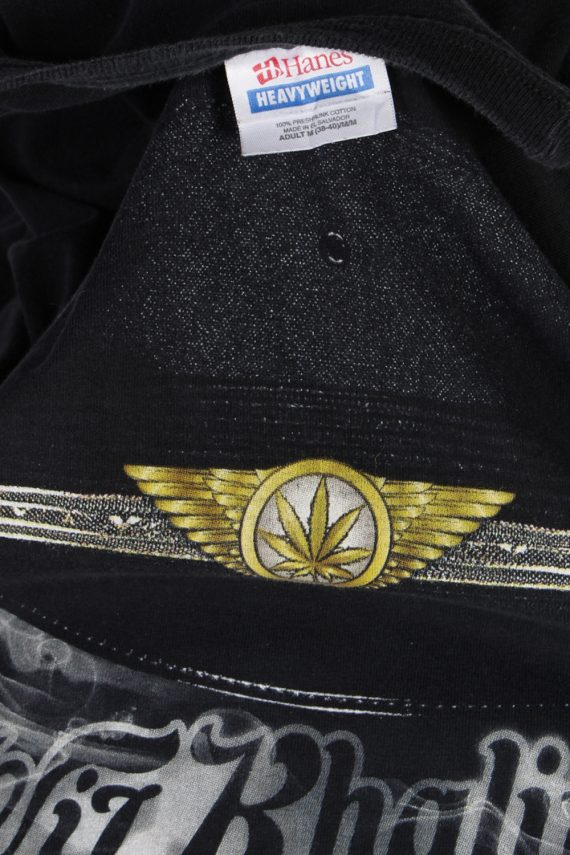 Vintage Hanes T-Shirt M Black TS103-81903