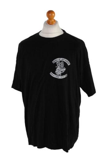 Men T-Shirt 90s Retro Shirt Black XXXL