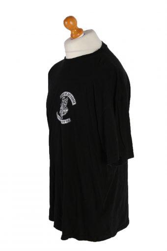 Vintage Unbranded Short Sleeve Shirt XXXL Black TS135-82633