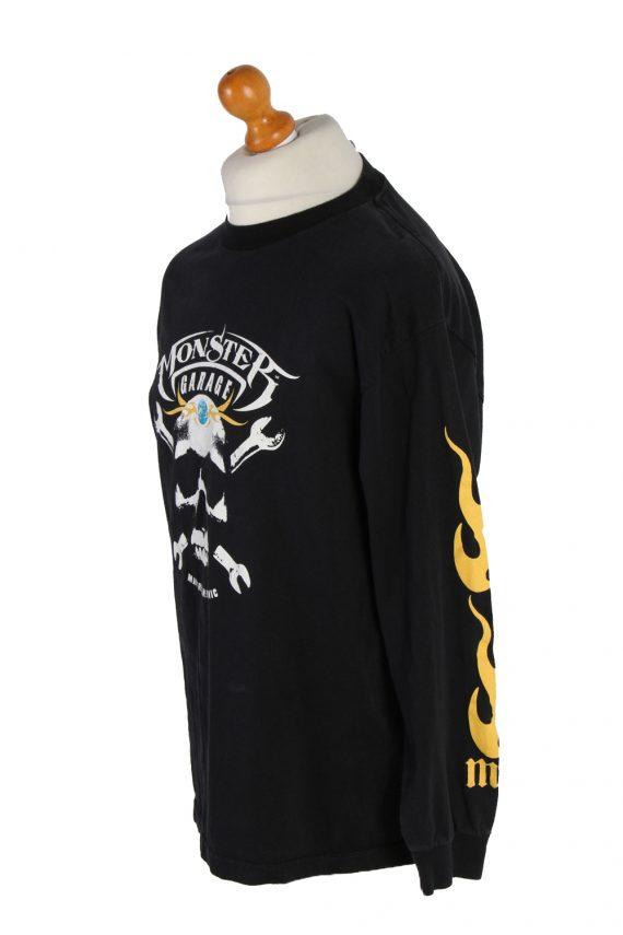 Vintage AAA Long Sleeve Shirt L Black TS140-82789