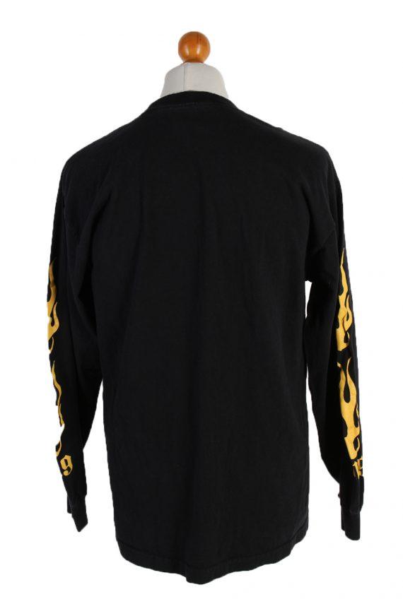 Vintage AAA Long Sleeve Shirt L Black TS140-82790
