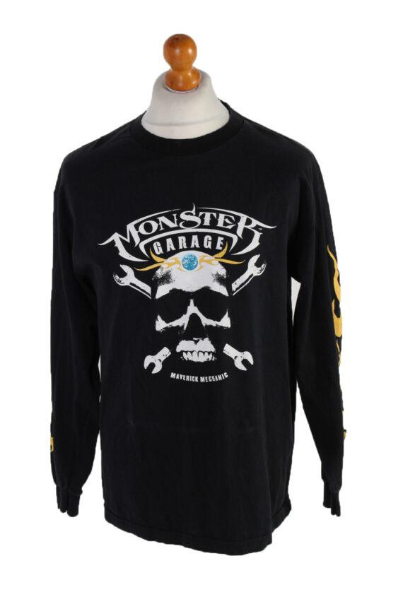 Vintage AAA Long Sleeve Shirt L Black TS140-0
