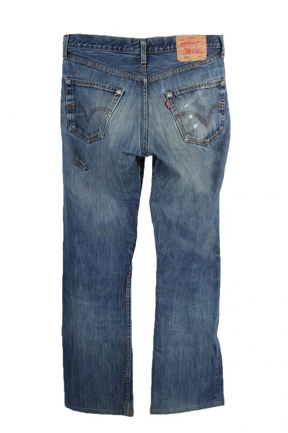 Vintage Levi's 501 Red label Ripped Faded Unisex Jeans W30 L32 Blue J3251-84893