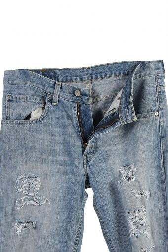 Vintage Levi's 752 Red label Ripped Faded Unisex Jeans W31 L34 Blue J3261-84932