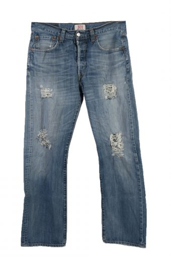 Levi's 501 label Ripped Faded Unisex Jeans W33 L30