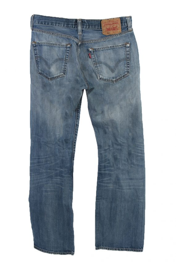 Vintage Levi's 501 Red label Ripped Faded Unisex Jeans W33 L30 Blue J3277-84993