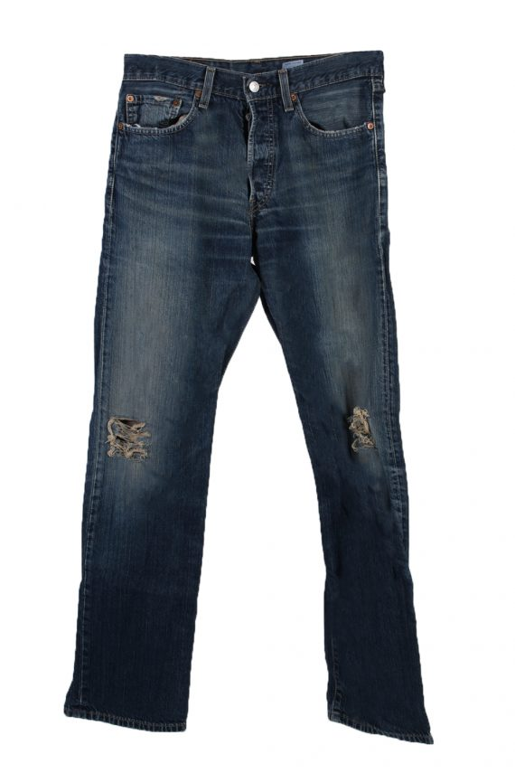Vintage Levi's 501 Red label Ripped Faded Unisex Jeans W32 L34 Blue J3280-0