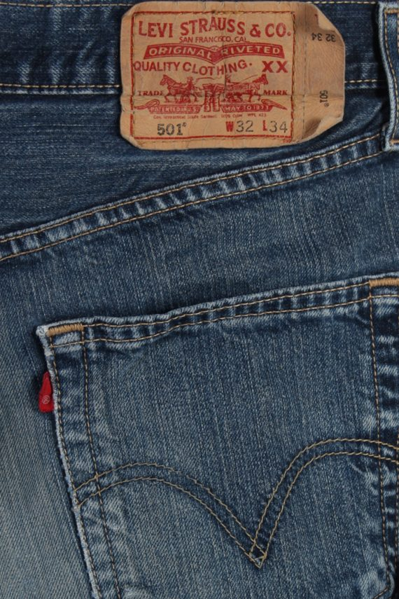 Vintage Levi's 501 Red label Ripped Faded Unisex Jeans W32 L34 Blue J3280-85006