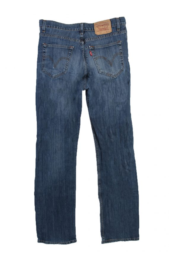 Vintage Levi's 752 Red label Ripped Faded Unisex Jeans W33 L34 Blue J3295-85065
