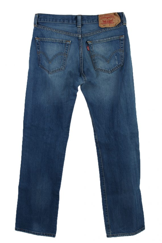Vintage Levi's 501 Red label Ripped Faded Unisex Jeans W32 L32 Blue J3301-85089