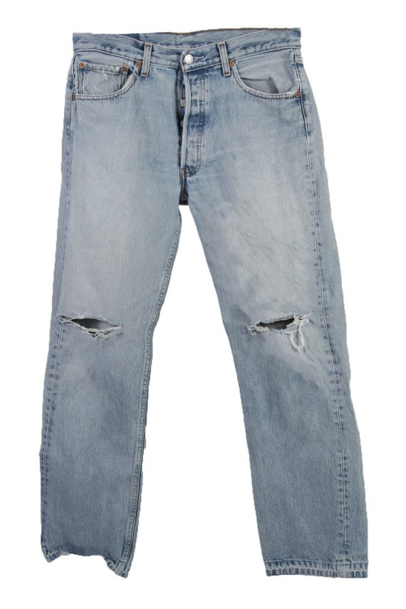 Vintage Levi's Red label Ripped Faded Unisex Jeans W33 L30 Blue J3302-0