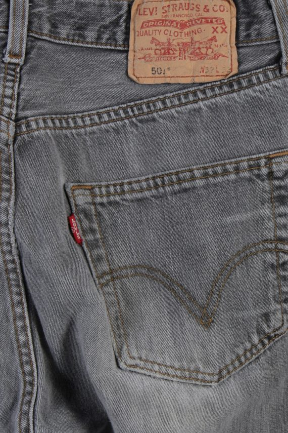Vintage Levi's 501 Red label Ripped Faded Unisex Jeans W32 L33 Gray J3304-85102