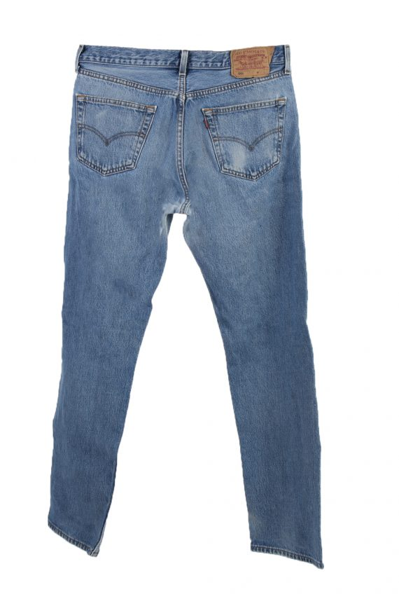 Vintage Levi's 501 Red label Ripped Faded Unisex Jeans W34 L32 Blue J3307-85113