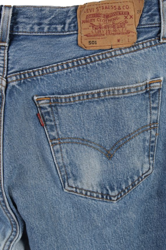 Vintage Levi's 501 Red label Ripped Faded Unisex Jeans W34 L32 Blue J3307-85114