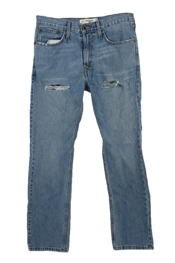 Vintage Levi's 520 Red label Ripped Faded Unisex Jeans W33 L29 Blue J3309-0