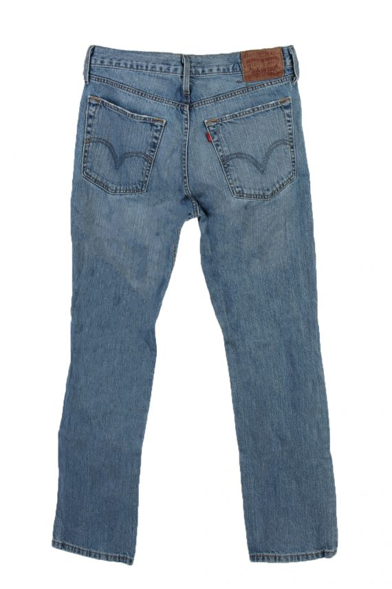 Vintage Levi's 520 Red label Ripped Faded Unisex Jeans W33 L29 Blue J3309-85121