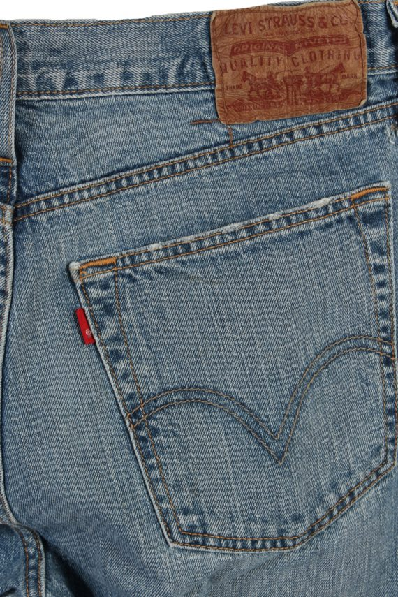 Vintage Levi's 520 Red label Ripped Faded Unisex Jeans W33 L29 Blue J3309-85122