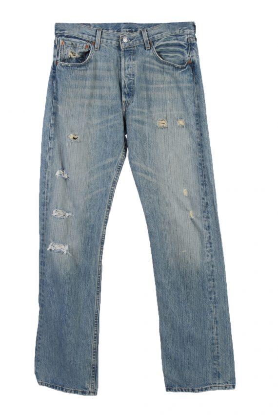 Vintage Levi's 501 Red Lable Ripped Faded Unisex Jeans Wxx Lxx Blue J3318-0