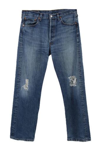 Levi's 501 Denim Jeans Ripped Straight Mens W33 L30