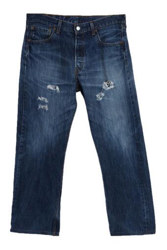 Levi's 501 Denim Jeans Ripped Mens W34 L28
