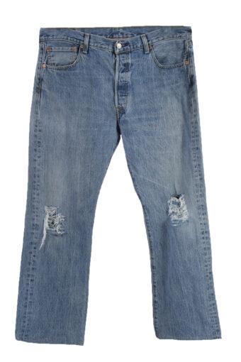 Levi's 501 Denim Jeans Ripped Mens W36 L30