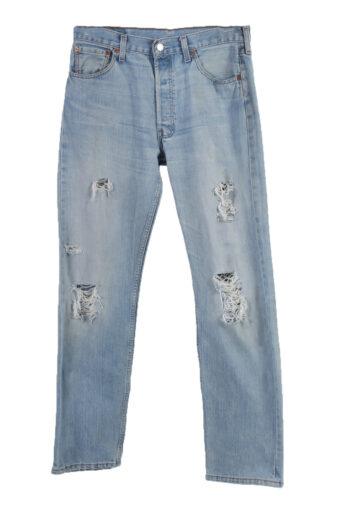 Levi's 501 Denim Jeans Straight Ripped Mens W34 L34
