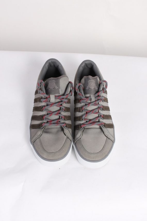 Vintage K-Swiss California Tennis Shoes UK 7.5 Grey S463-86321